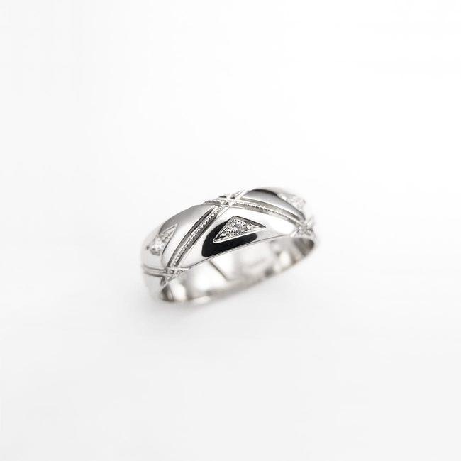 prstani poročni karo linije zlato ženski