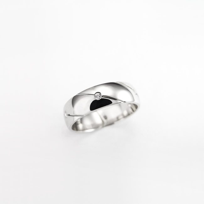 prstani poročni precne linije zlato ženski