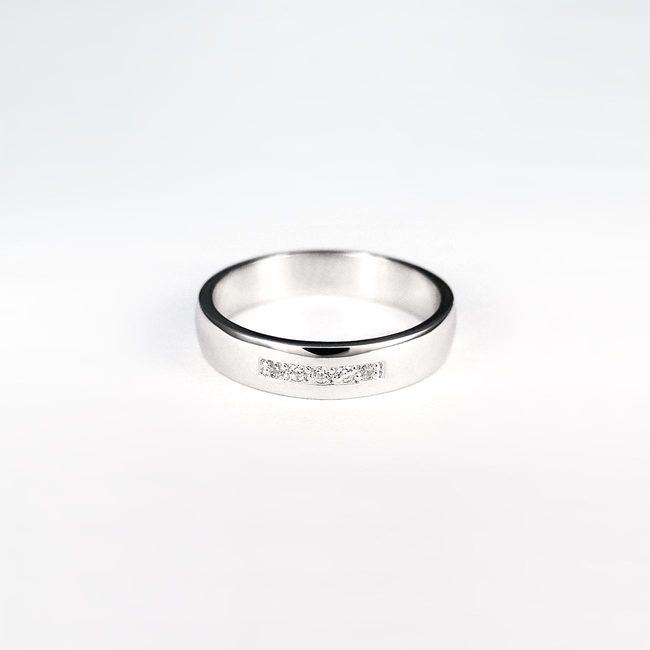 poročni prstani belo zlato in cirkoni