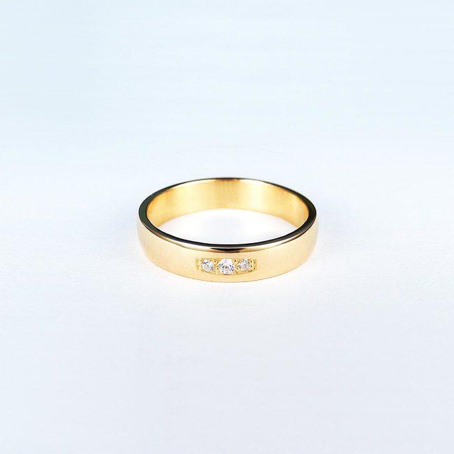 poročni prstani roza zlato in cirkoni
