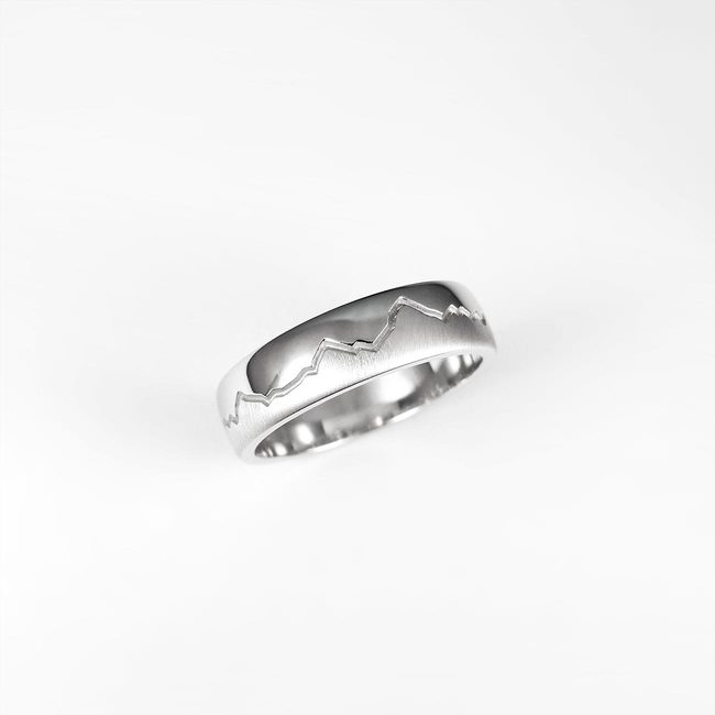 poročni prstan belo zlato hribi vrhovi