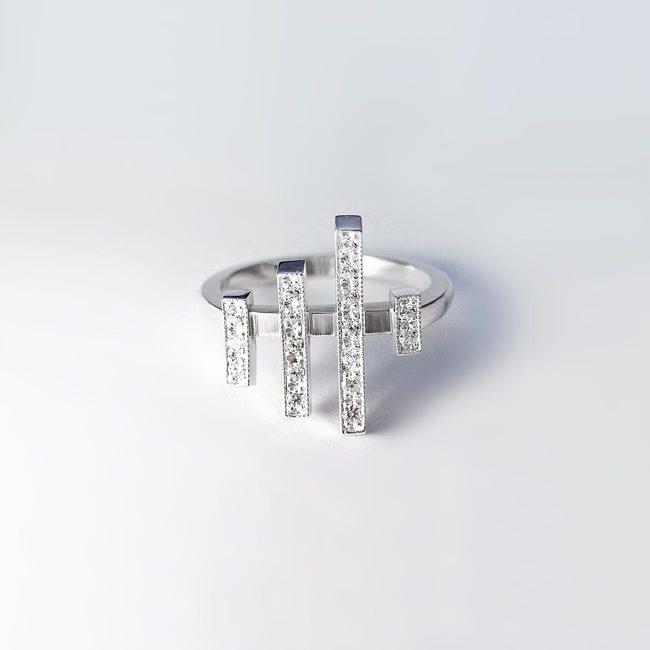 prstan japonska precne linije diamanti