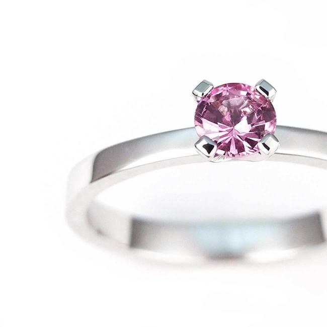 zaročni prstan zlato 030 roza safir zoom