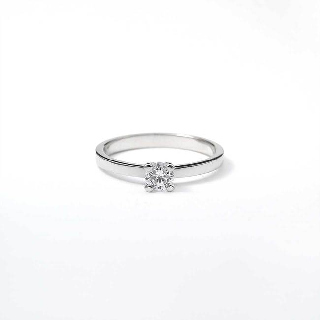 solitaire engagement ring with smaller stone