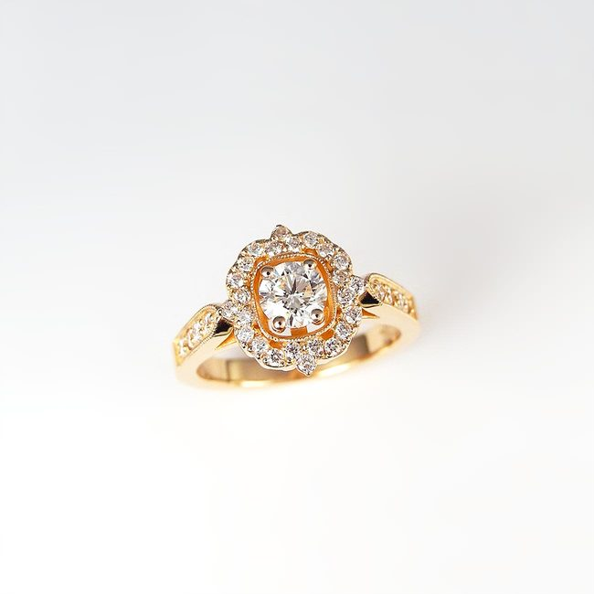 uniq ring rose goud en diamanten