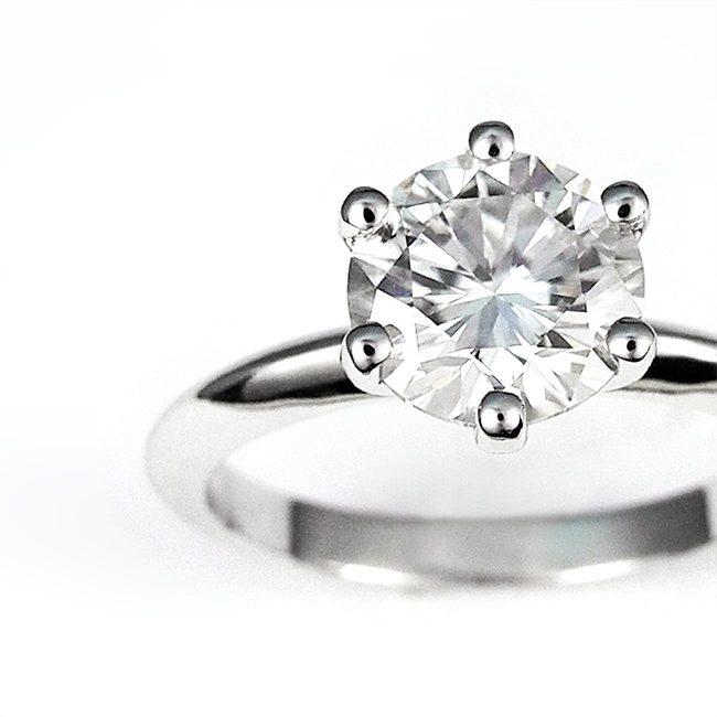 zaročni prstan belo zlato moissanite 1.5 ct zoom