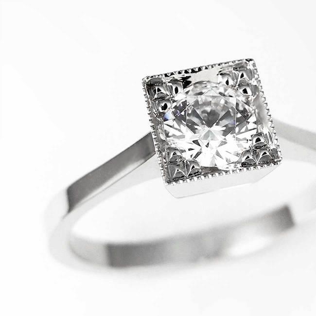 prstan kvadratna oblika povečava