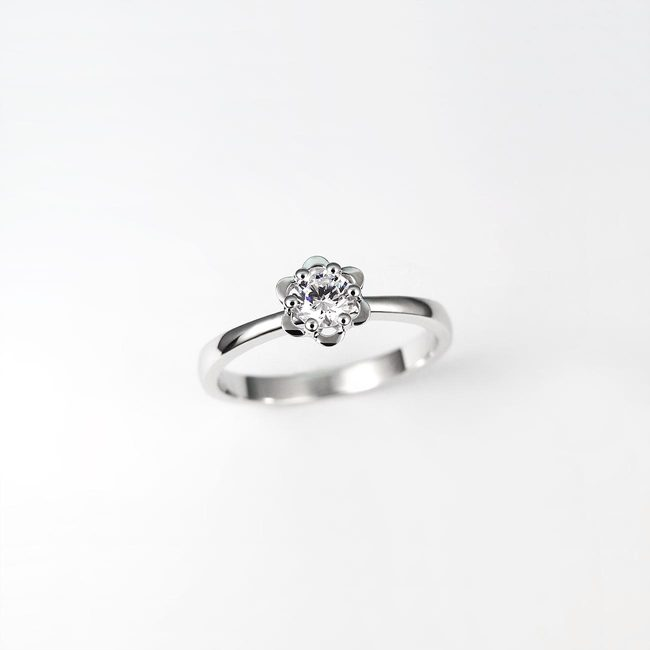 forlovelsesring rose design diamantguld