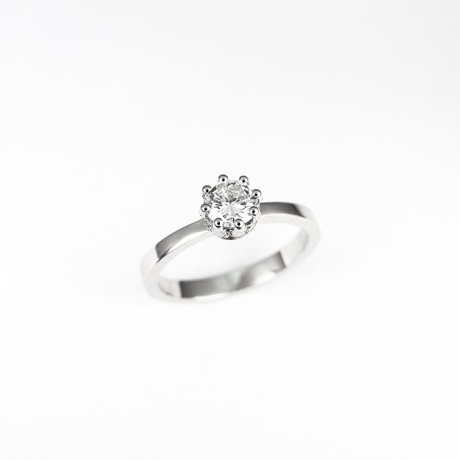 ring engagement crown side stones diamonds