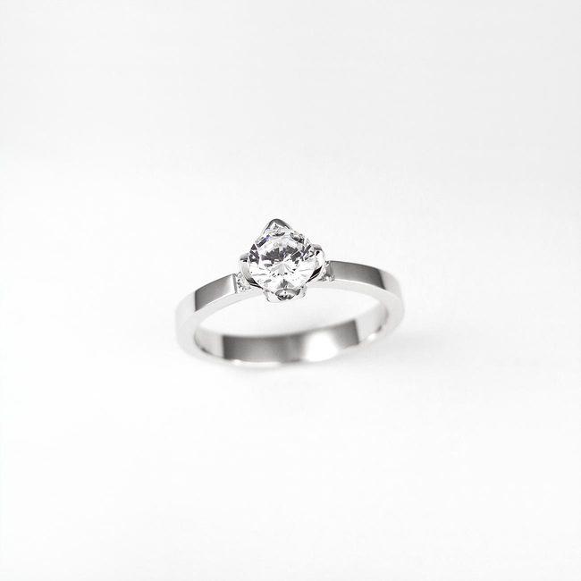 prstan zaročni roznat okvir kamna