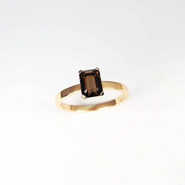 ring rosé goud smaragd halfedelsteen rokerige steengroeve