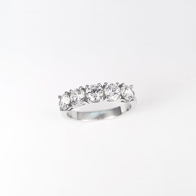 verlovingsring 5 diamanten 1ct