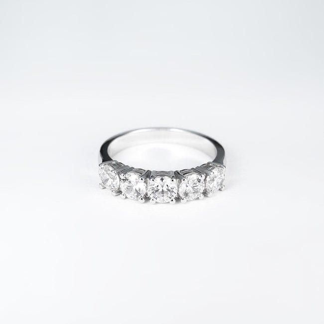 bague 1 ct cinq diamants