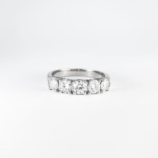 bague de fiançailles 5 diamants 1 ct