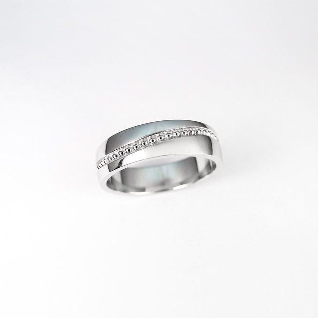 poročni prstan millgrain vijuga kroglice zlato