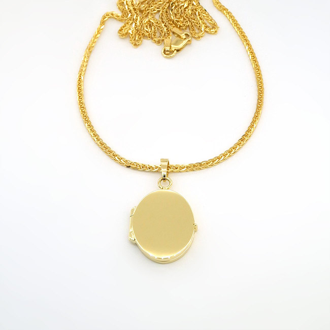 14 k guld oval medaljong