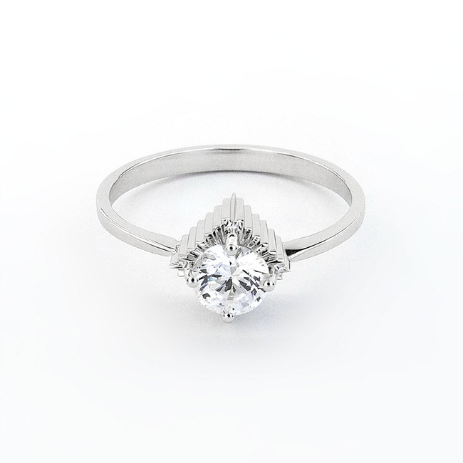 white gold and diamond extravagant engagement ring