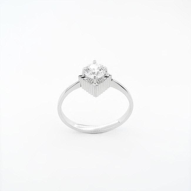 prstan ekstravaganten belo zlato cirkon