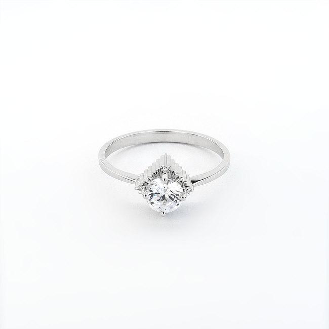extravagante verlovingsring witgouden diamant