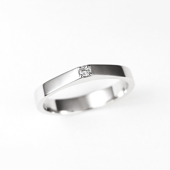 minimale ring met diamanten verlovingsring
