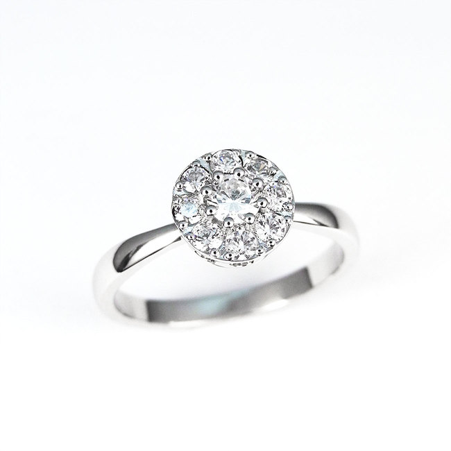 white gold engagement ring mini halo