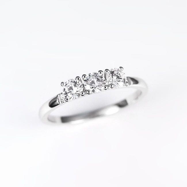 engagement ring three plus stones white gold different