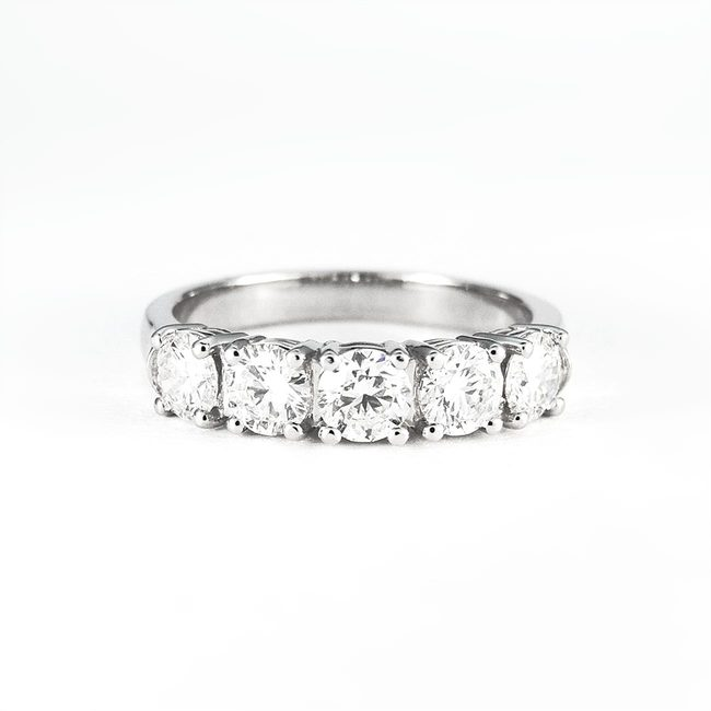 engagement ring diamonds five line