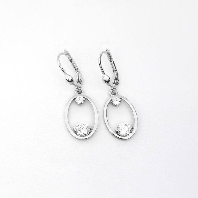 oval earrings bigger white gold