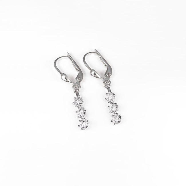 uhani viseči minimalistični 3 005kt diamanti