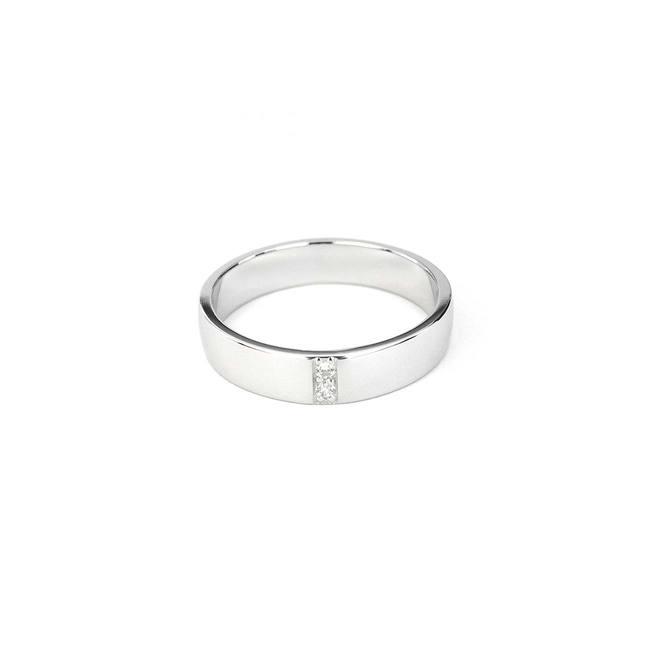 poročni prstan dva diamanta pocez