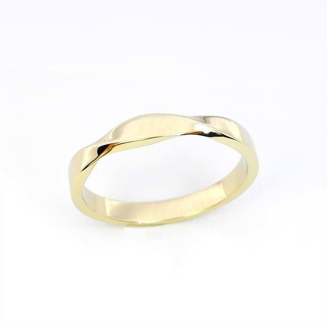 poročni prstan vijugast mobius