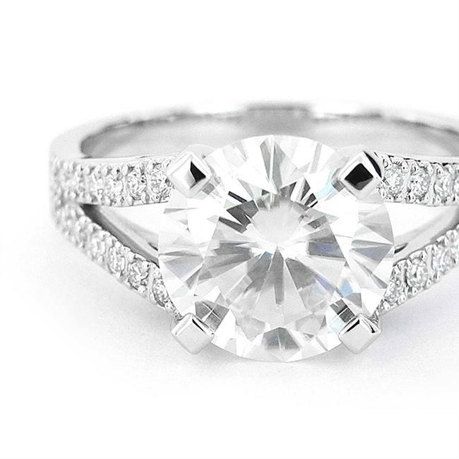prstan večji dvojna rinka diamanti