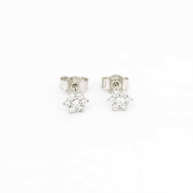 star stud earrings with stones white gold