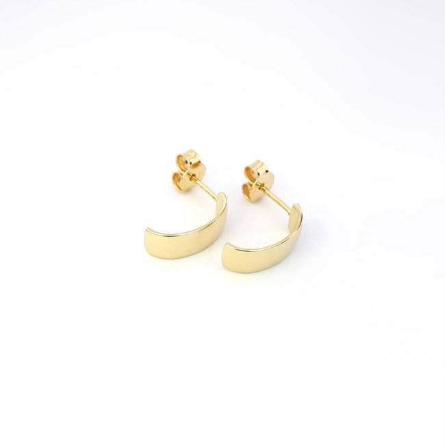 minimalistični kreol creol uhani rumeno zlato širši