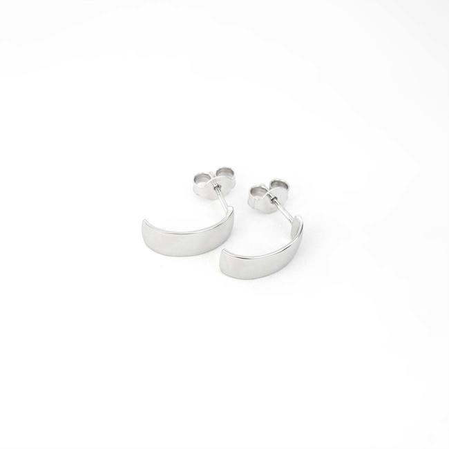 minimalistični kreol creol hoops uhani belo zlato