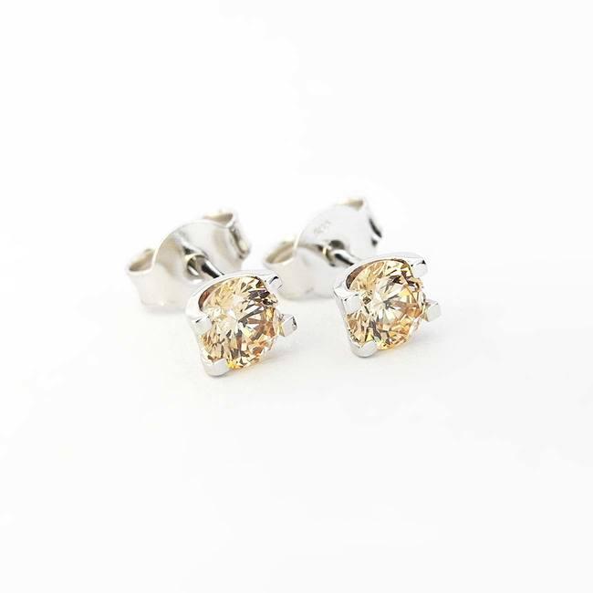 øreringe U form champagne cubic zirconia guld