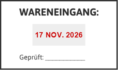 Bild von Datumstempel WARENEINGANG
