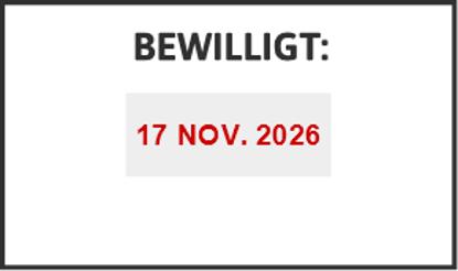 Bild von Datumstempel BEWILLIGT