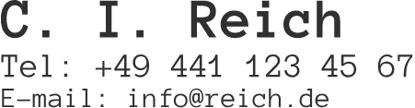 Bild von 3 Zeilen Name, Telefon, E-Mail