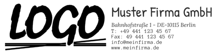Bild von Vorlage Firmenstempel Logo links gross