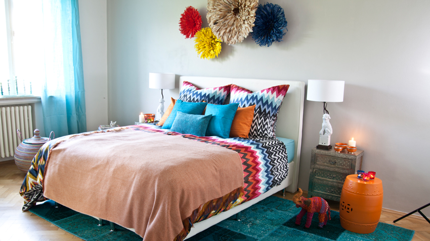 Buntes Schlafzimmer