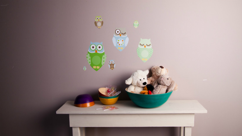 Kinderzimmer Wandgestaltung mit Wandsticker