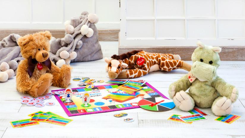 Kinderzimmer, Plüschtiere und Brettspiele