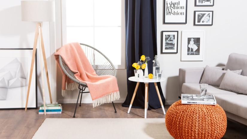 Wohnzimmer Einrichten Mit Knalligen Farben