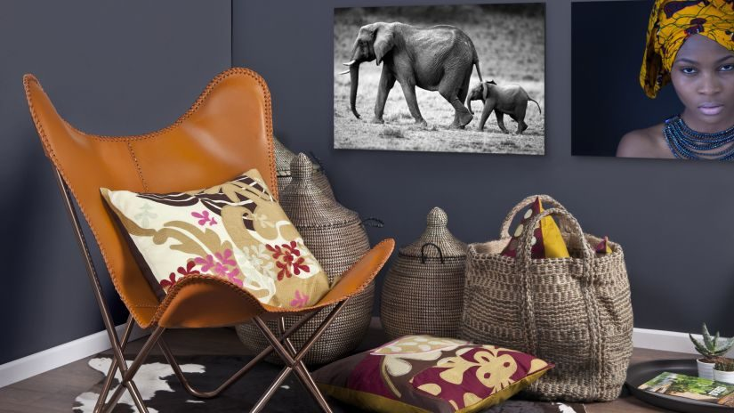 Dekoration im afrikanischen Stil