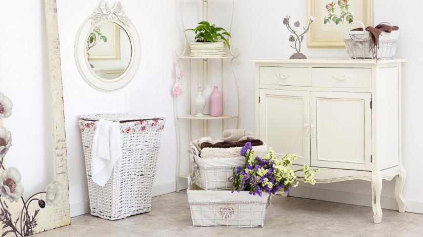 Wäscheständer Zubehör: Wäschekorb Rattan
