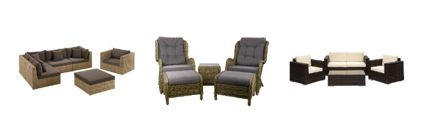 Lounge aus Polyrattan