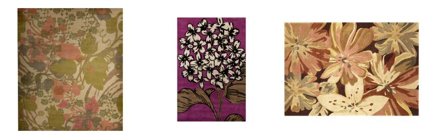 Florale Teppiche für mediterranes Wohnen