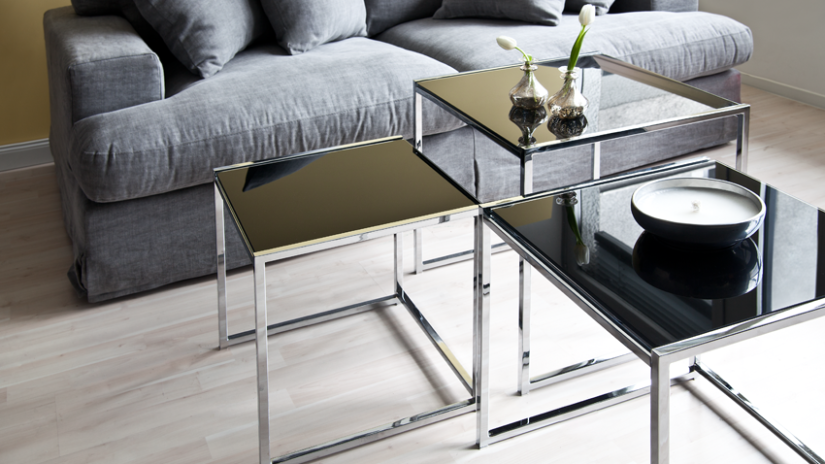 Moderne Wohnzimmer im Metall-Look