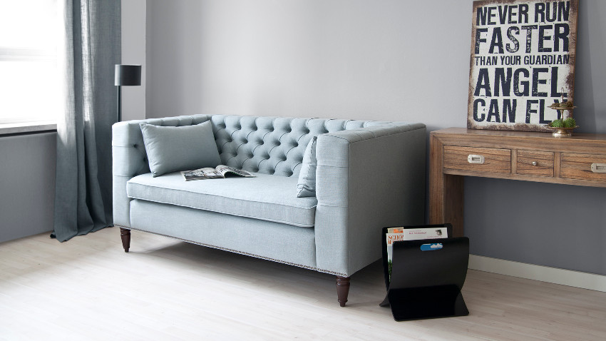 Chesterfield ecksofa stoff grau  Chesterfield Sessel: Rabatte bis zu -70% | WESTWING